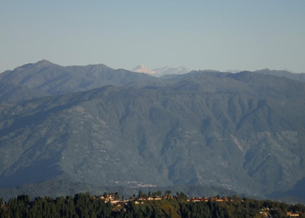 W oddali Lhotse, Makalu i Mount Everest