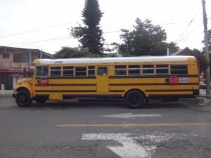 Panamski autobus w Boquete