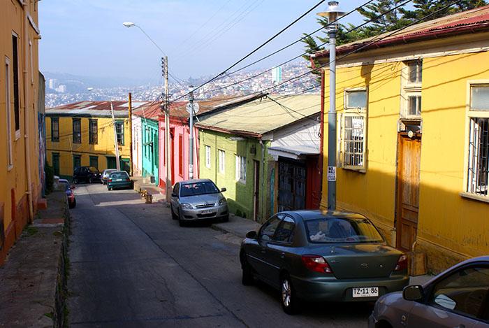 Kolorowe domy Valparaiso