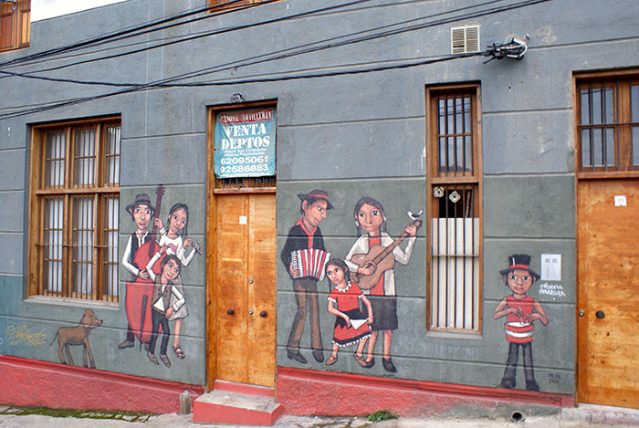 Murale w Valparaiso