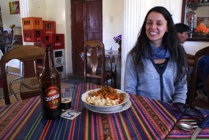 Maleja, malta quinua i danie z boliwijską kukurydzą