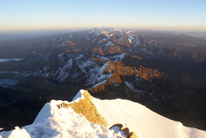 Widok ze szczytu w stronę Grani Polskiej