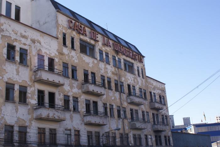 """""""Dom demokracji"""" - demokracja chyba nie trzyma się w Boliwii najlepiej :)"""