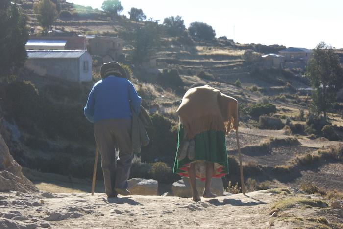 Para staruszków na Isla del Sol