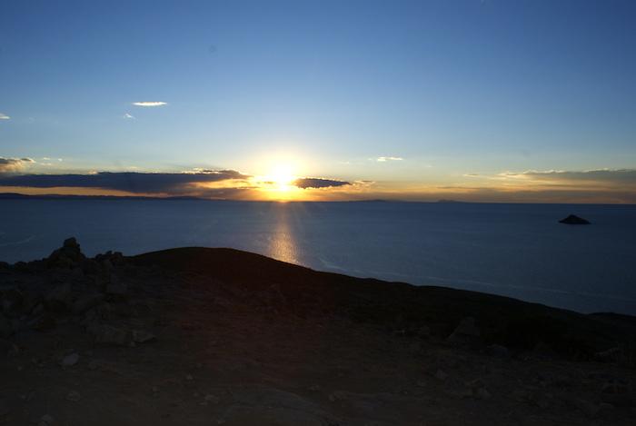 Zachód słońca na Isla del Sol